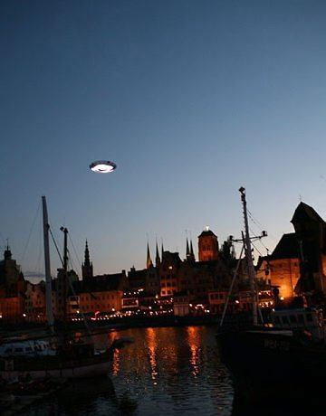 disco voador na Polônia